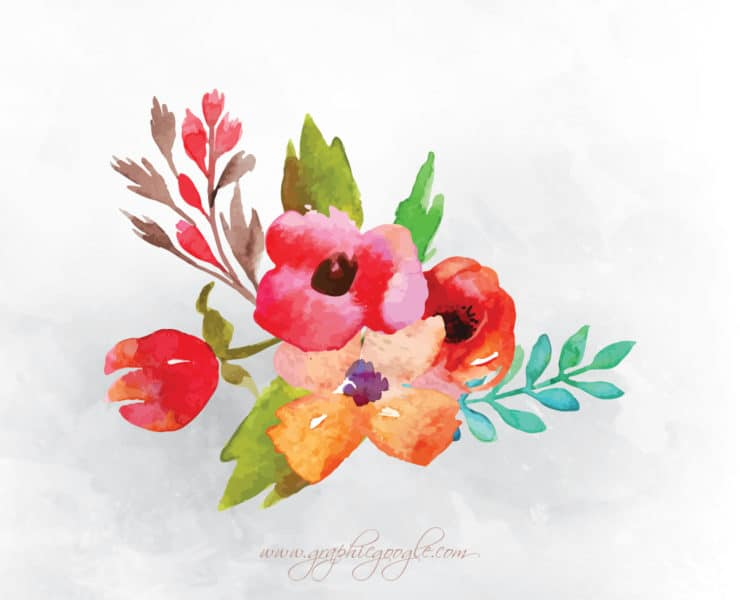 Free Watercolor Flower Vectors For Designers - Engine ...