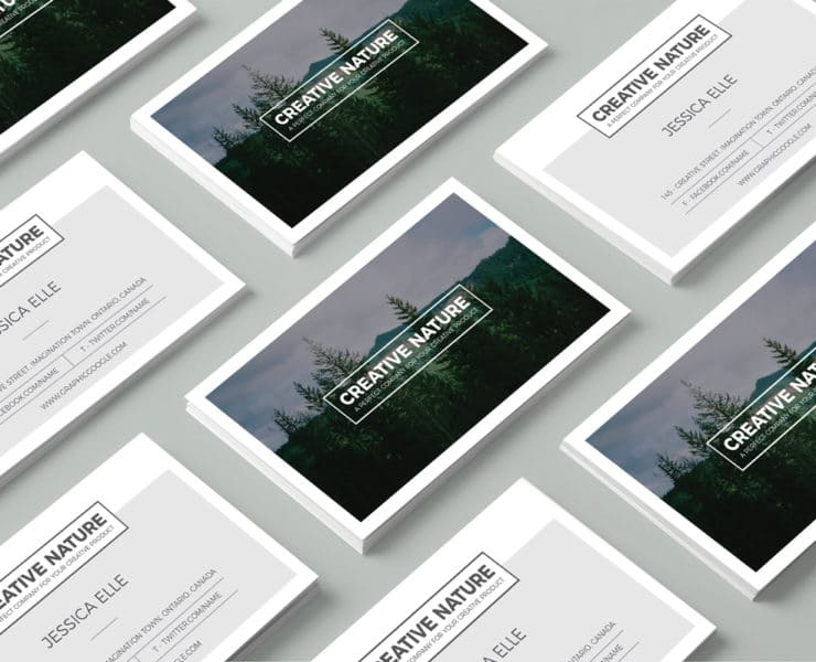 Free creative nature artists business card design template engine make your business card remarkable by creative nature artists business card design template thank to it you can make your business card and your company wajeb Image collections
