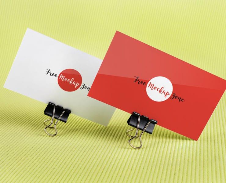 Gorgeous Free Business Card PSD MockUp