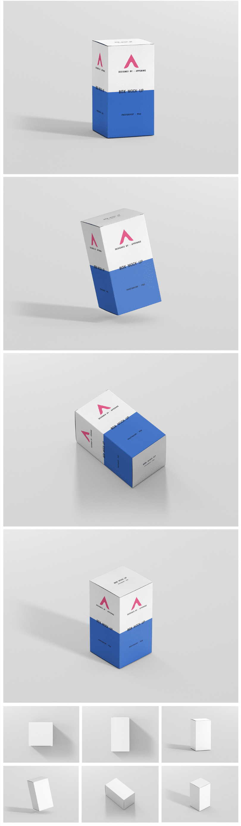 Pack Of Rectangle Box MockUp