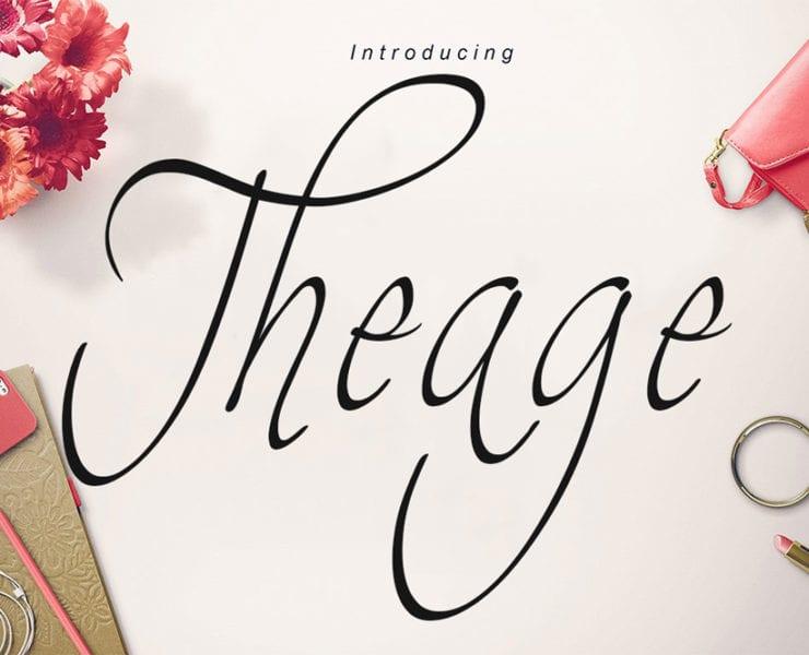 Theage Free Handwritten Script Font
