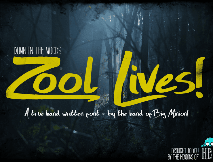 Zool Lives Free Script Typeface