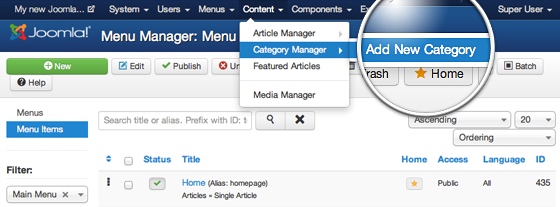 How to Create and Manage Categories in Joomla 3