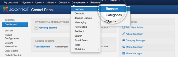How to Add Banners to Joomla 3 Sites