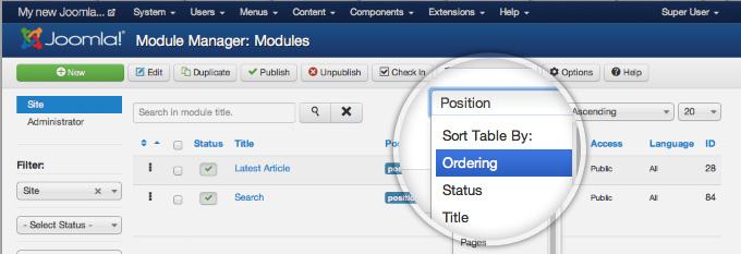 Joomla Positions Tutorial