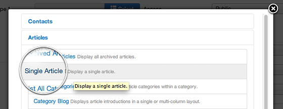 Joomla Article Page & How to Link Articles