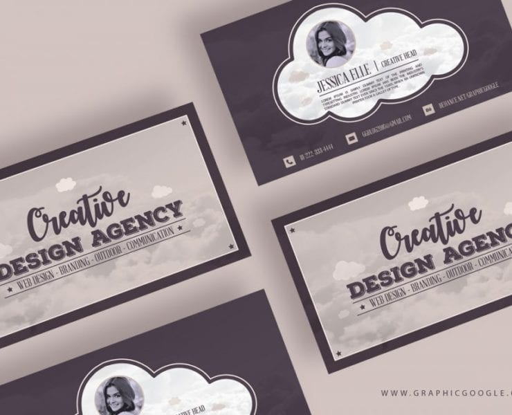 Creative design agency vintage business card template engine templates free download here flashek Choice Image