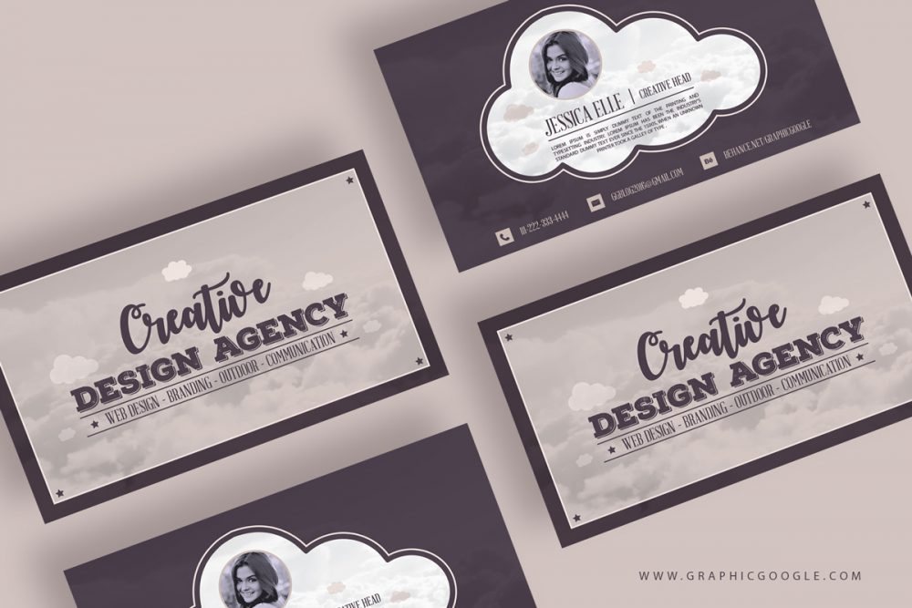 Creative Design Agency Vintage Business Card Template - Engine Templates