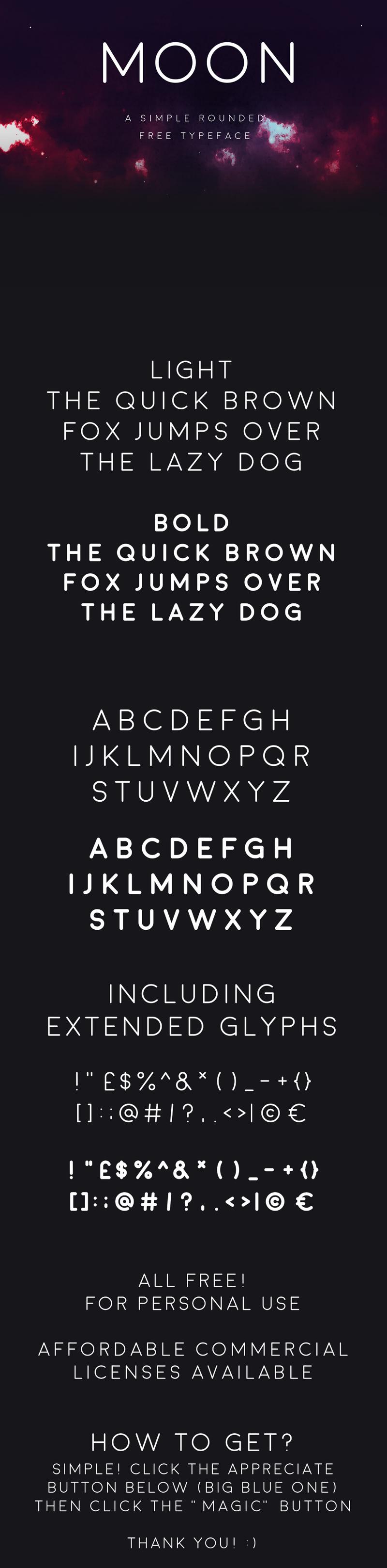 Moon Free Sans Serif Typeface