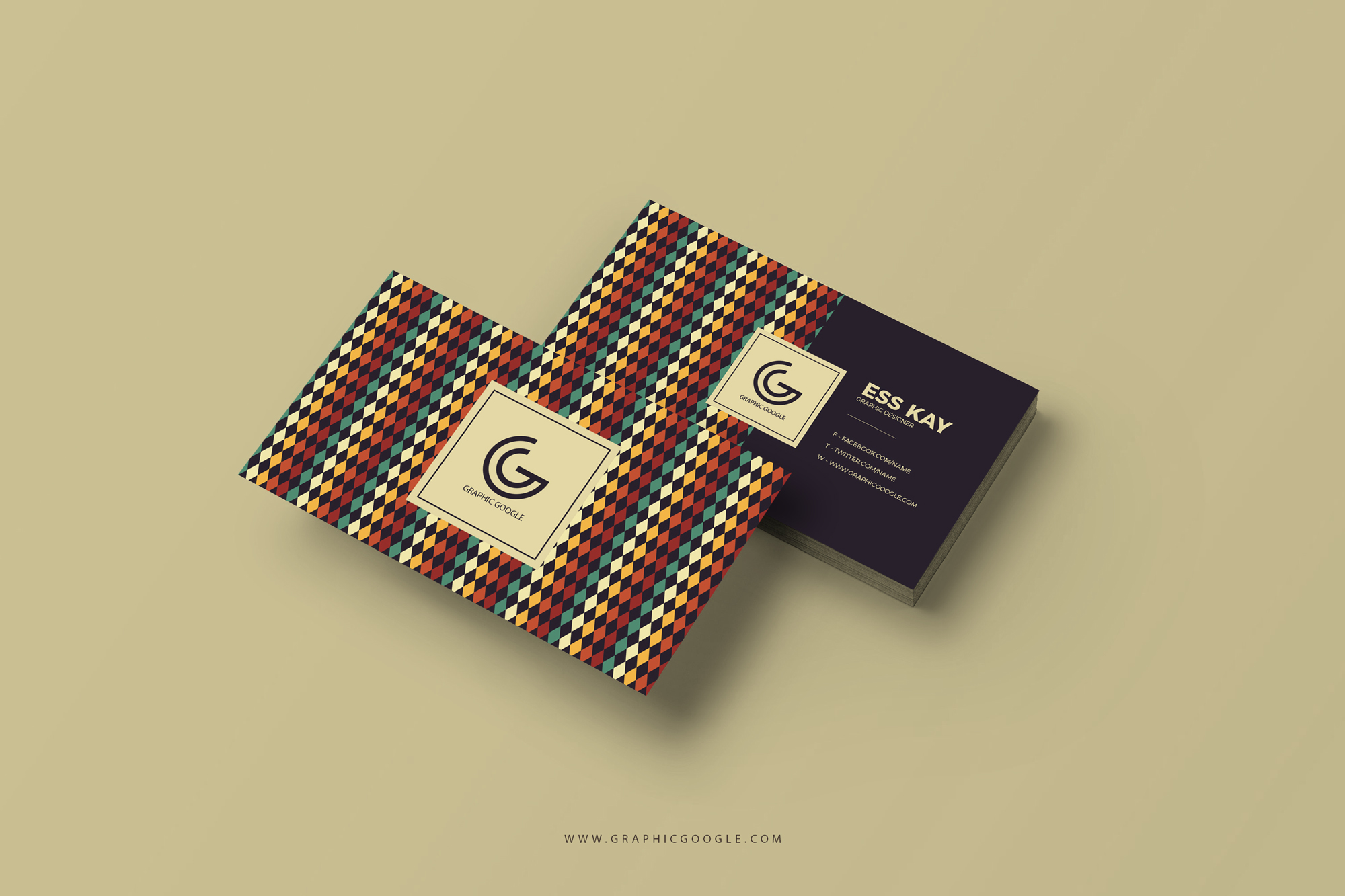 Retro Vintage Business Card Template - Engine Templates