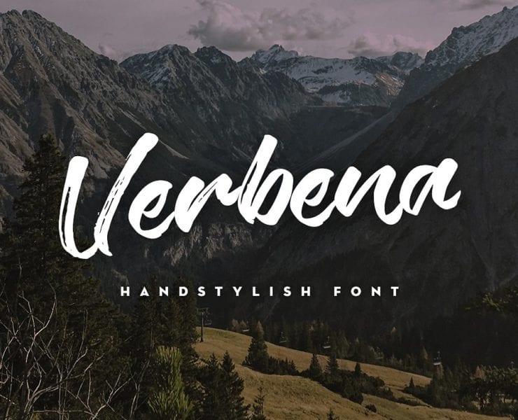 Verbena Handstylish Script Free Font