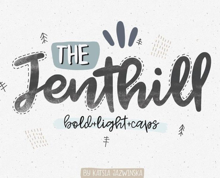 Jenthill Script Font - Engine Templates