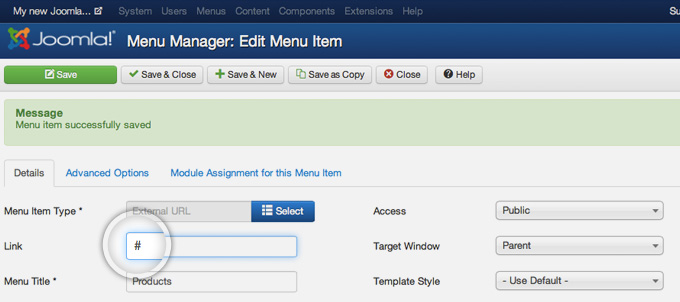How to Create Drop-down Menu in Joomla