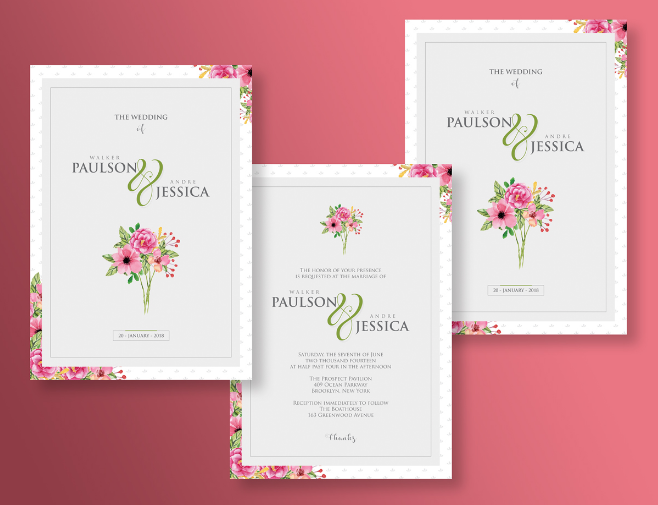 Elegant Wedding Invitation Templates: Elegant Wedding Free Invitation Templates