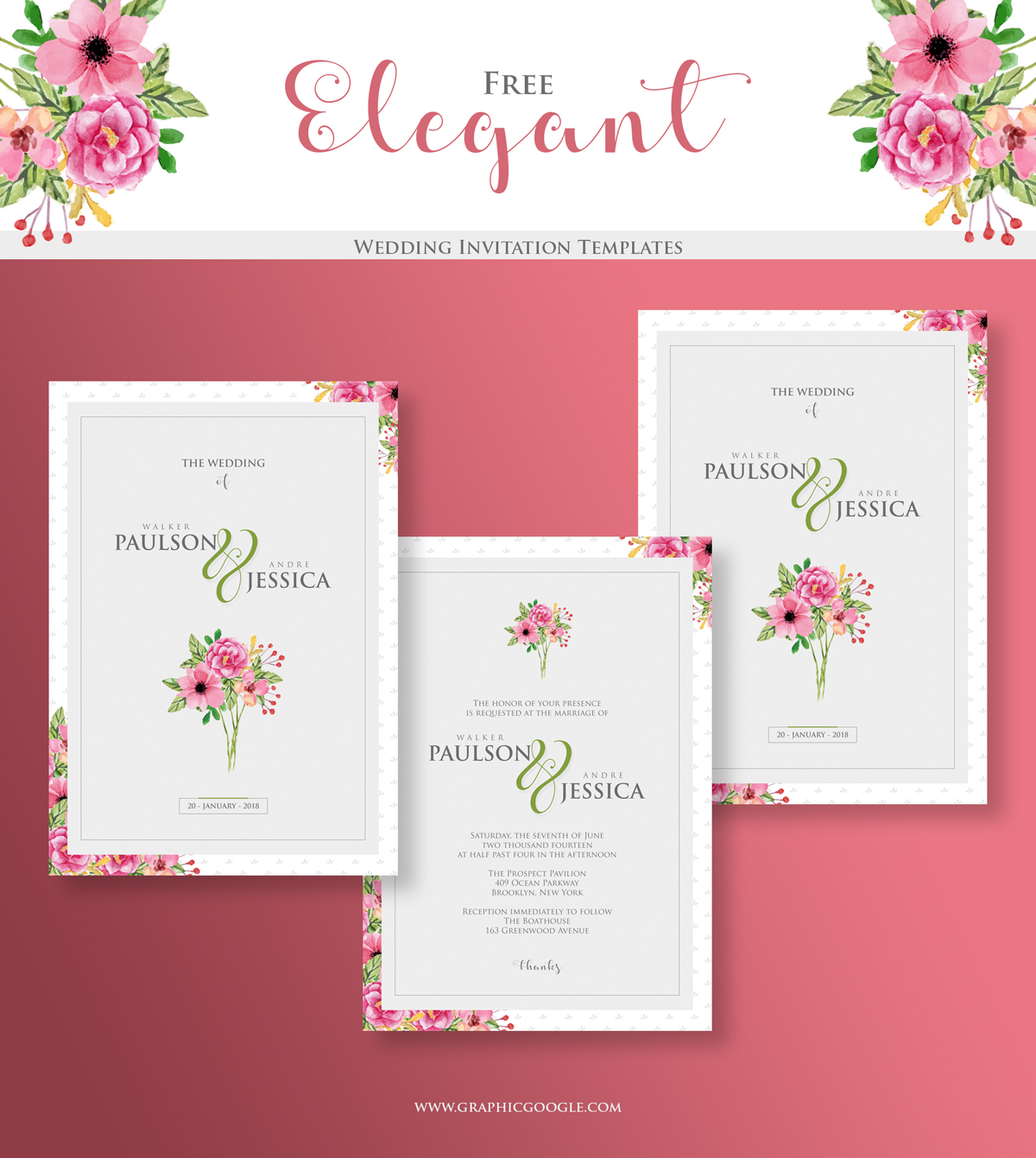 Free Wedding Invitation Downloads: Elegant Wedding Free Invitation Templates