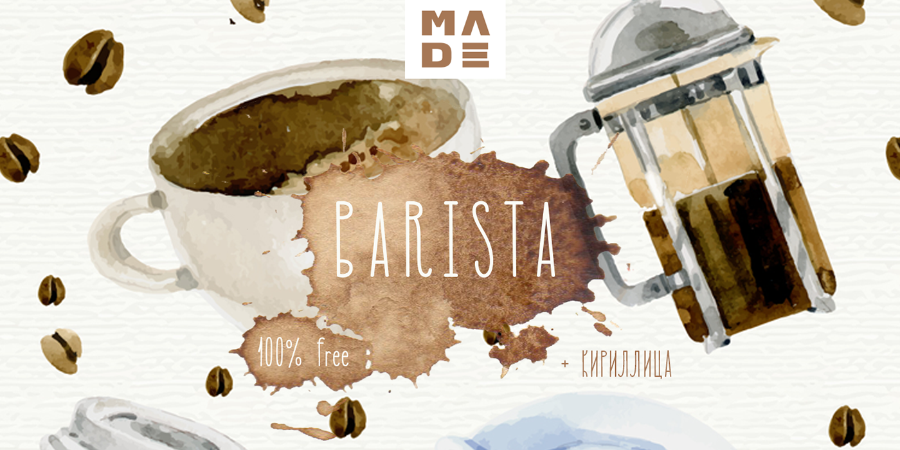 MADE Barista Free Display Typeface