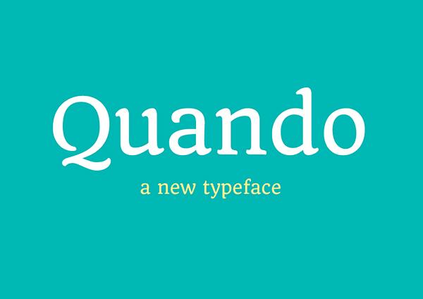 Quando - Serifed Text Free Typeface