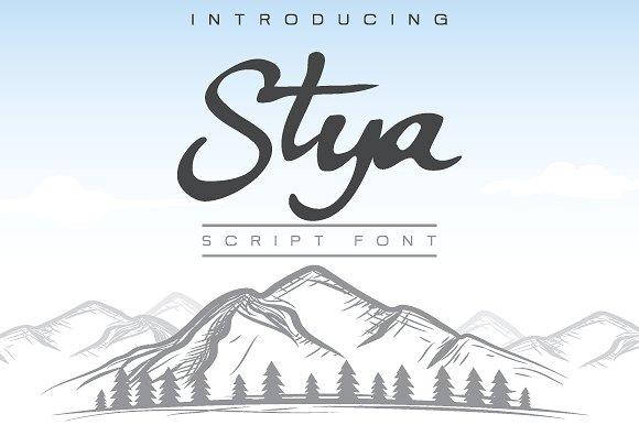 Stya Free Script Typeface