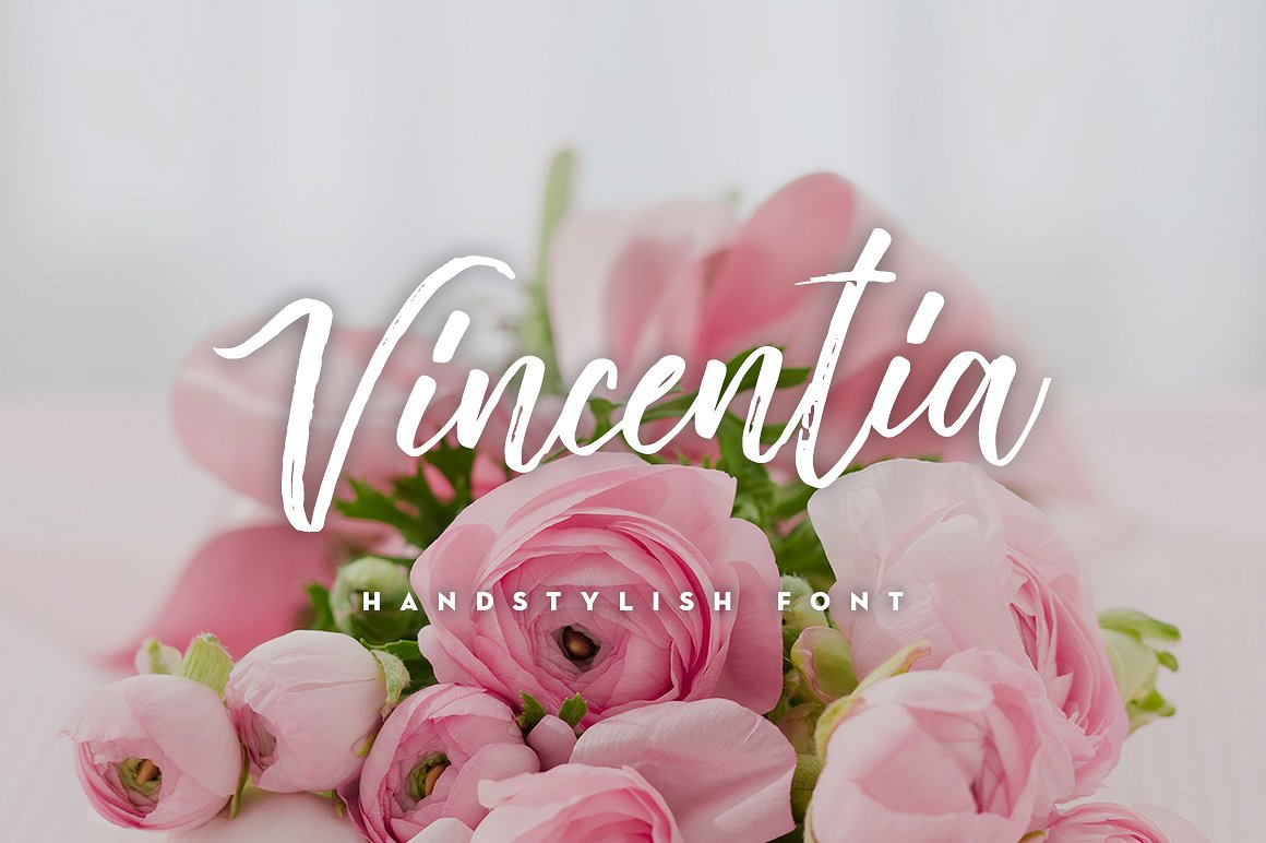 Vincentia Handstylish Free Typeface