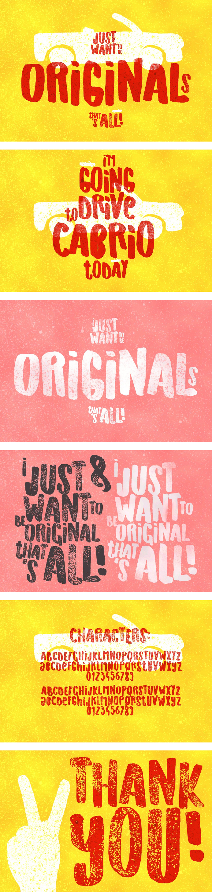 Originals Handdrawn Playful Display Typeface