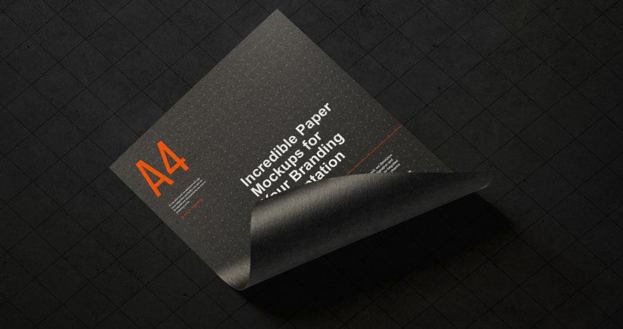 Paper Branding Mockup PSD Template
