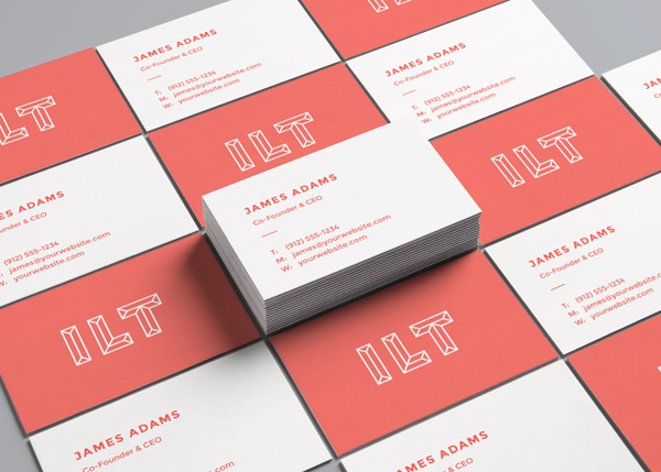 Perspective business card free mockup engine templates perspective business card free mockup reheart Images