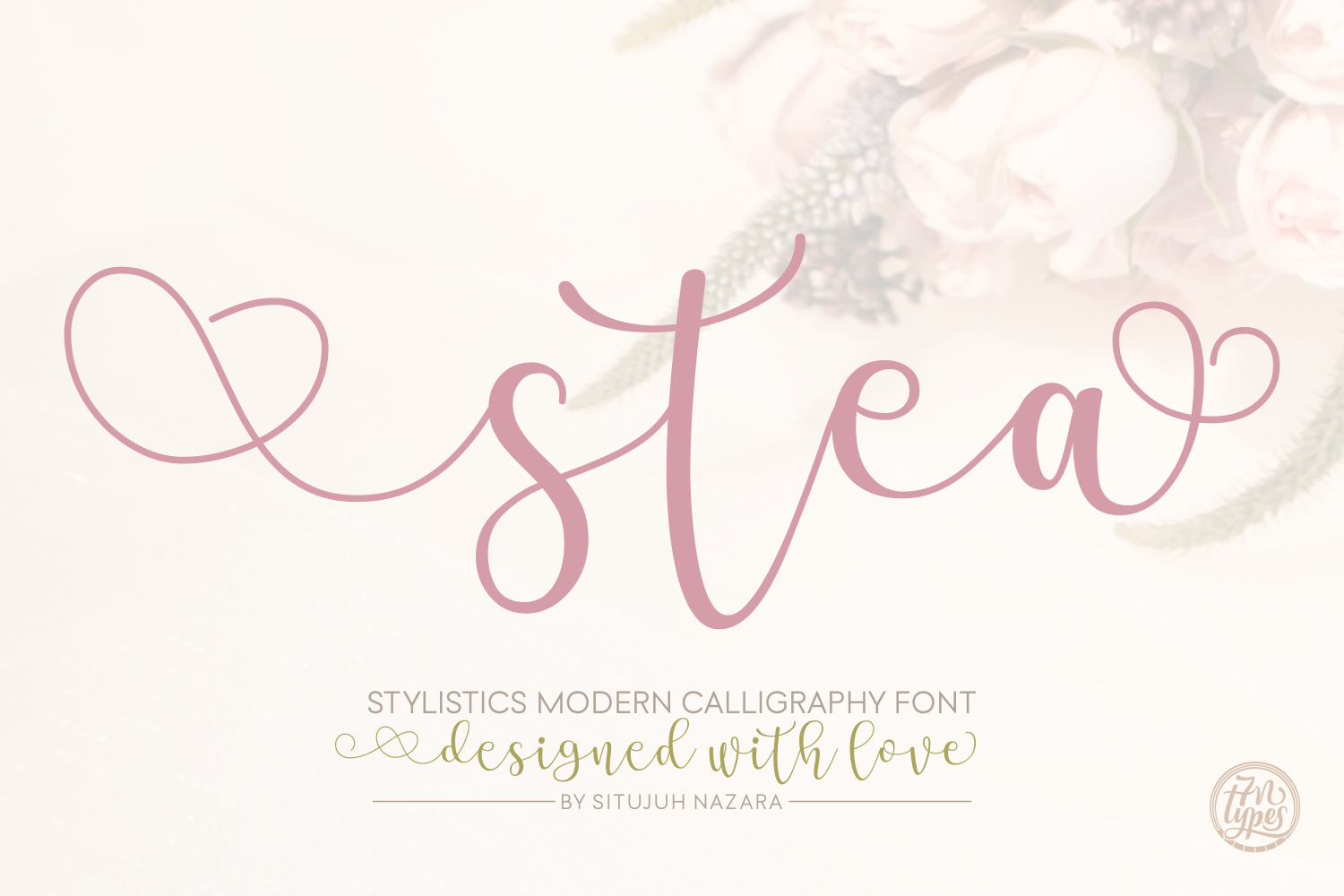 Stea free calligraphy typeface engine templates