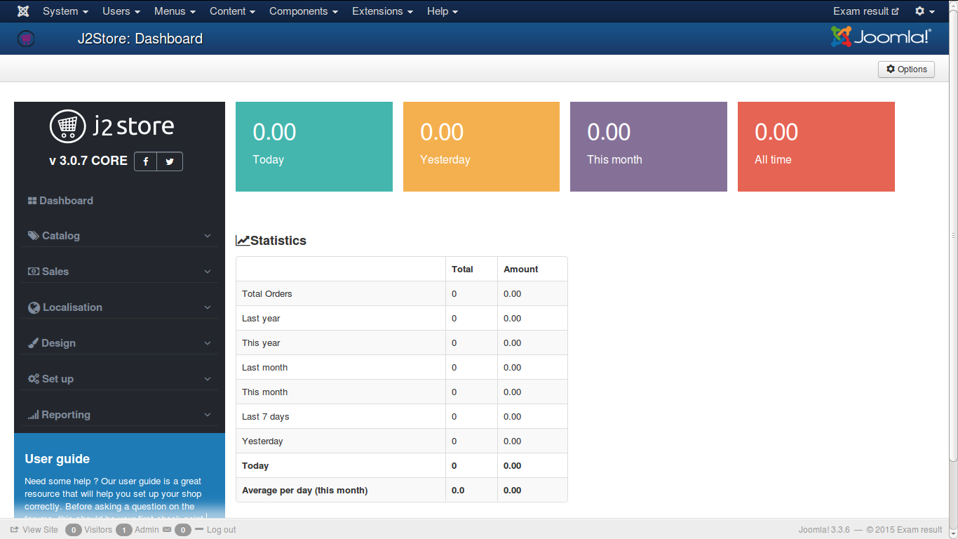 j2store-dashboard