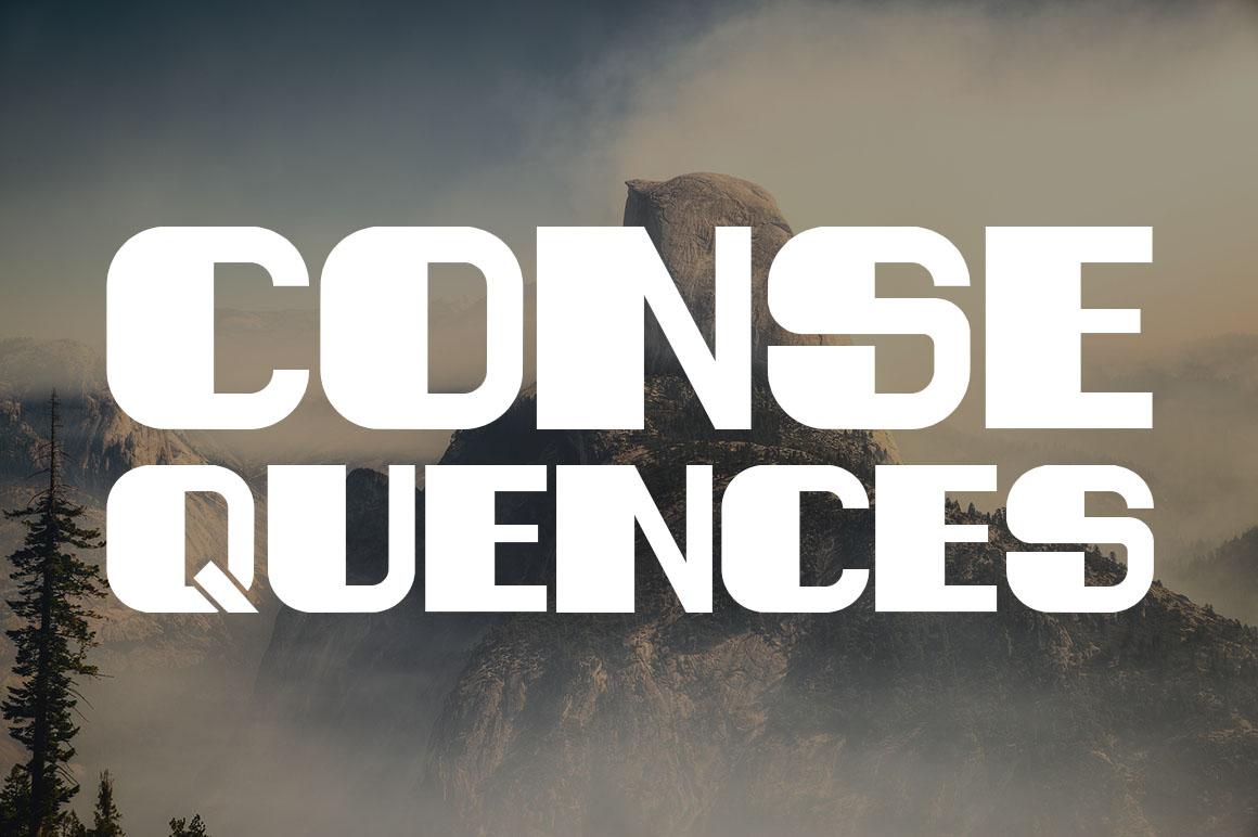 Consequences Free Sans Serif Typeface