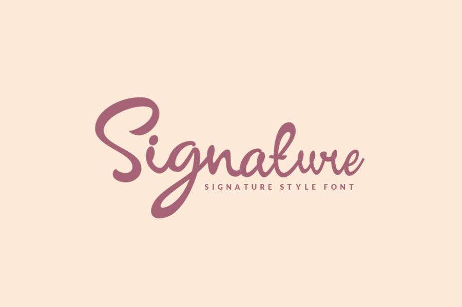 Signature Script Free Font