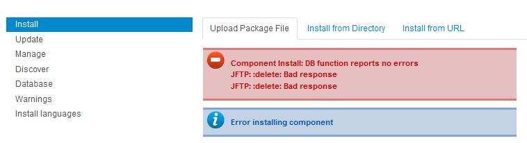 install error