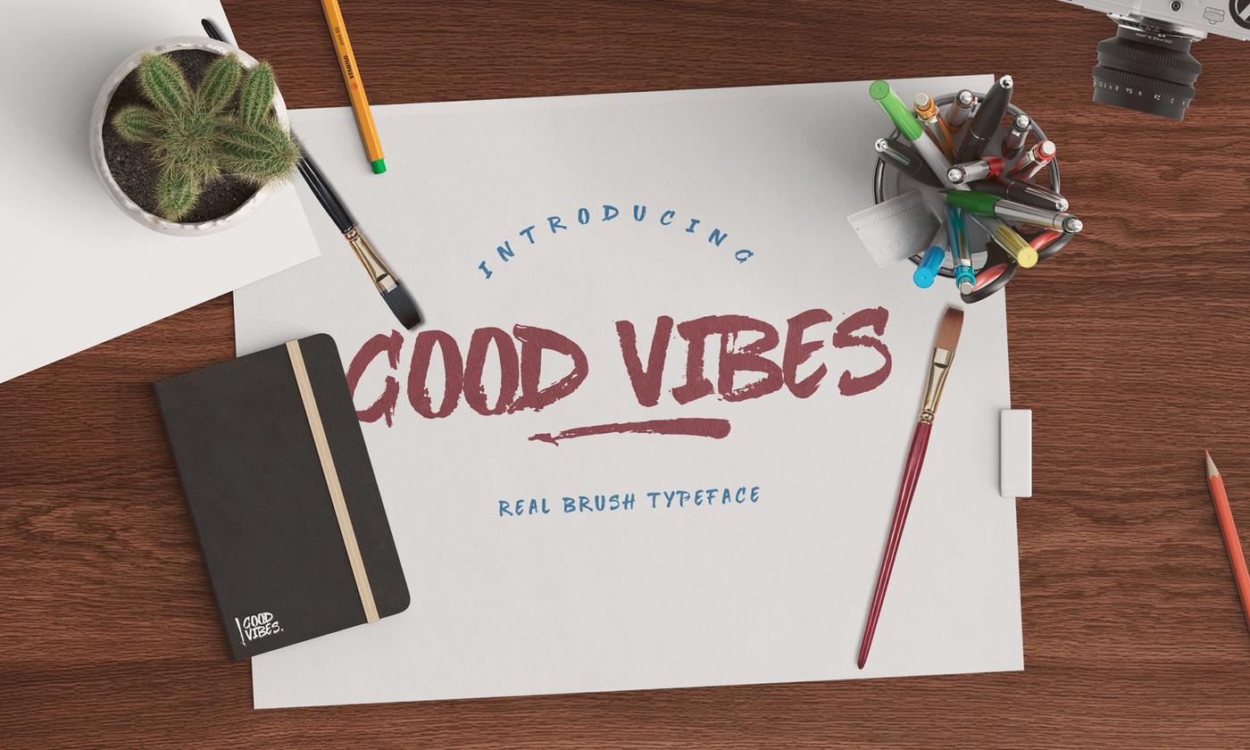 Good Vibes Brush Script Font