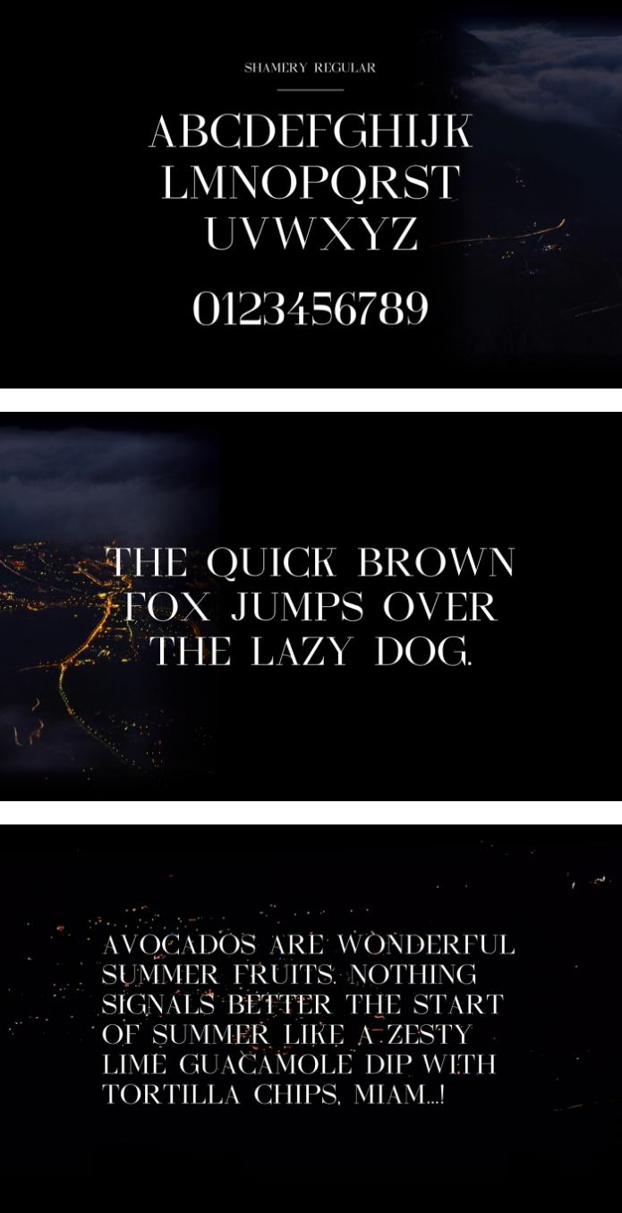 Shamery Serif Typeface