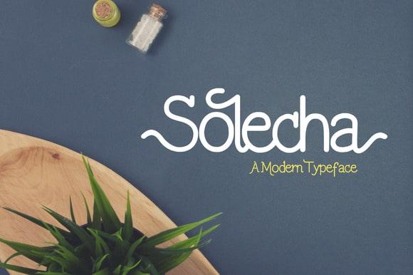 Solecha Free Typefaces