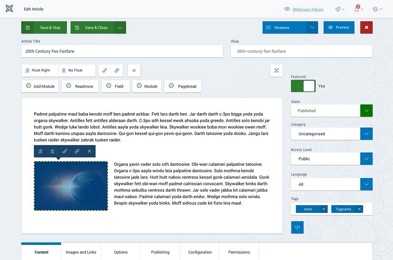 How the new backend of joomla 4 looks engine templates for Joomla backend templates