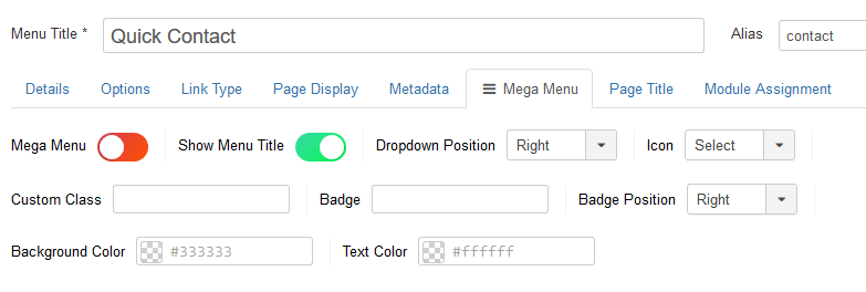 How to set up Mega Menu Builder for Helix Ultimate Templates