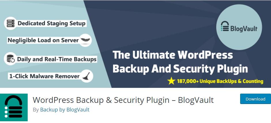BlogVault - WordPress Backup & Security Plugin