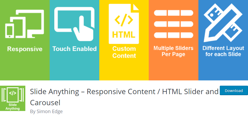 Slide Anything – Responsive Content / HTML Slider and Carousel