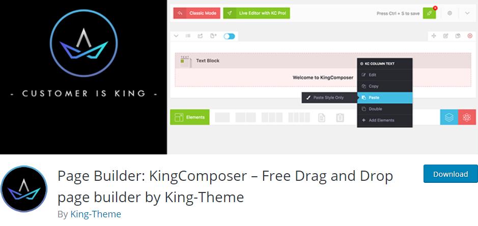 KingComposer Best Page Builder WordPress Plugins
