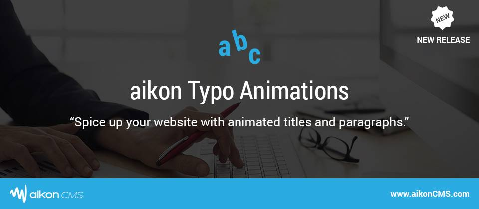 aikon Typo Animations