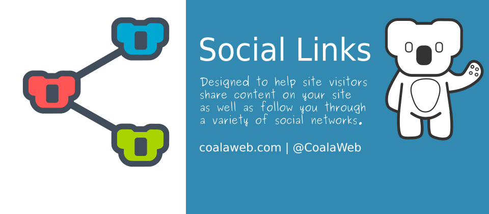 CoalaWeb Social Links joomla social share extension