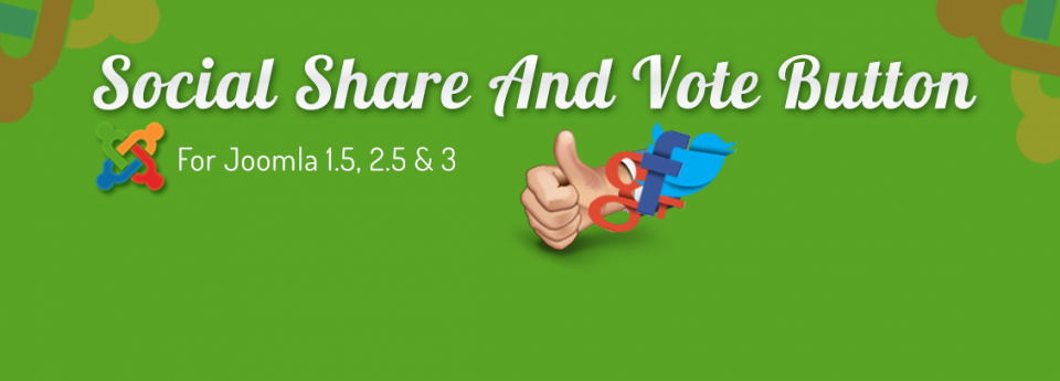 Social Share and Vote Button joomla social share extension