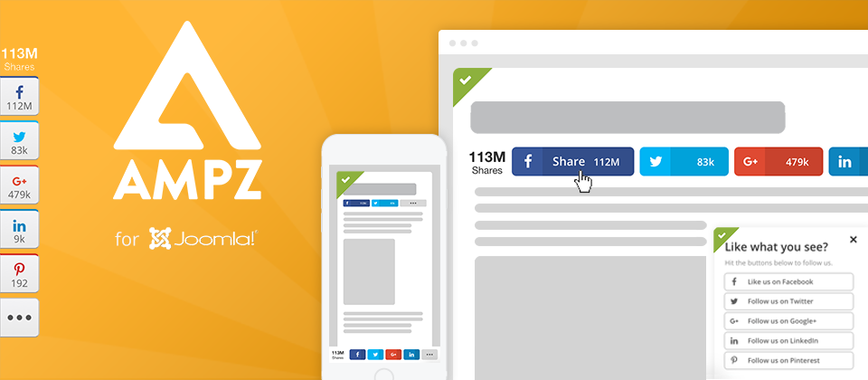 ampz joomla social share extension