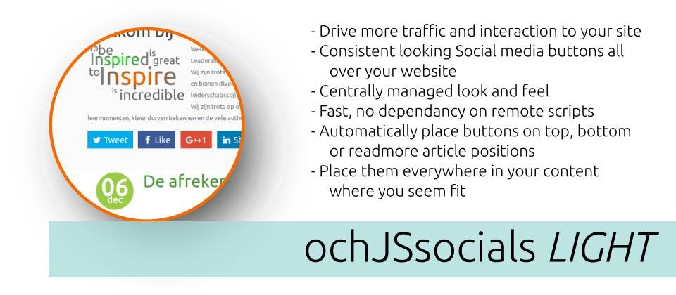 ochJSsocials LIGHT joomla social share extension
