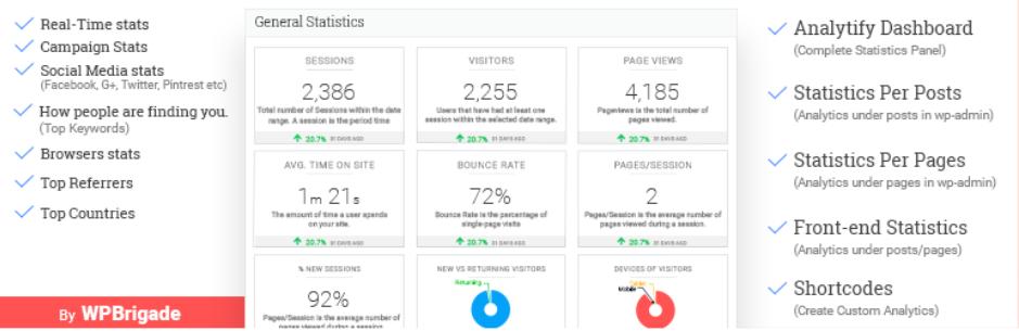 1. Analytify – Google Analytics Dashboard Plugin for WordPress