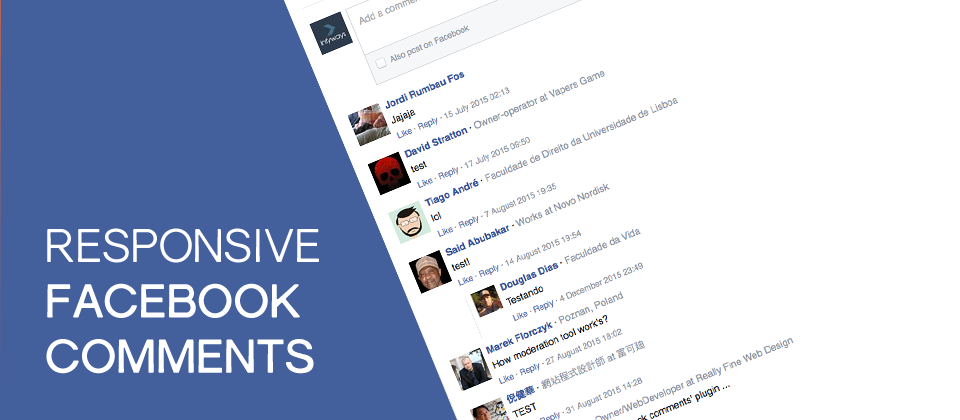 Responsive Facebook Comments joomla social comments extension