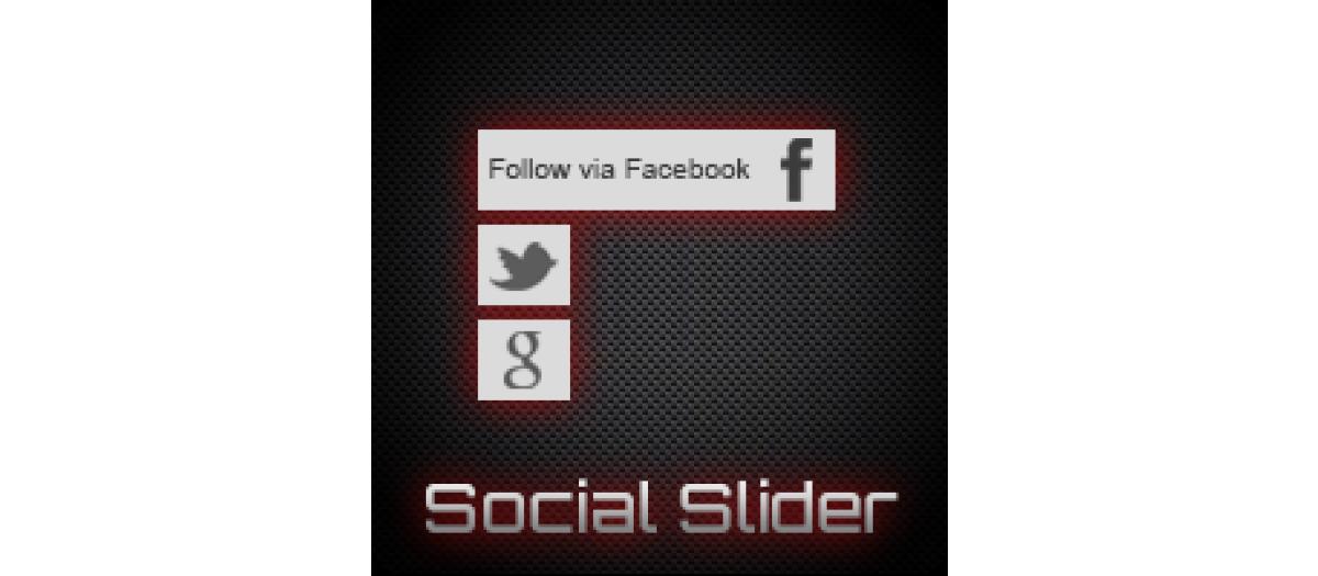JJ Social Slider joomla social presense extension