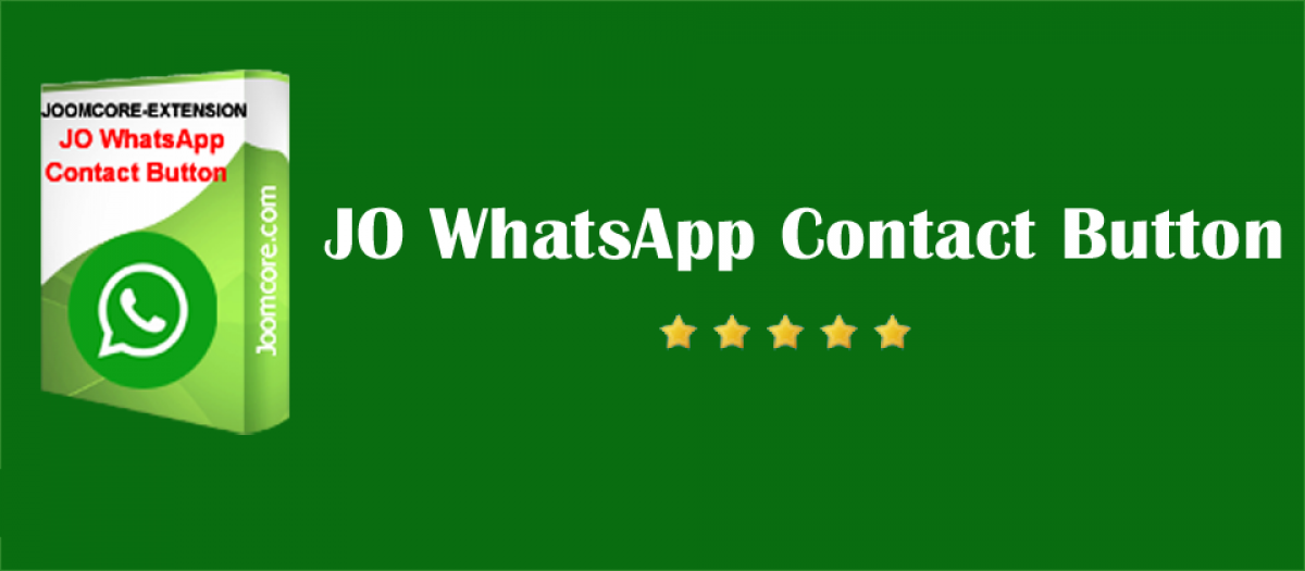 JO WhatsApp Contact Button joomla live support extension