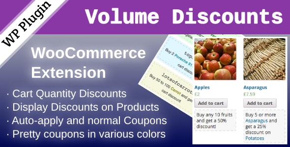 WooCommerce Volume Discount Coupon