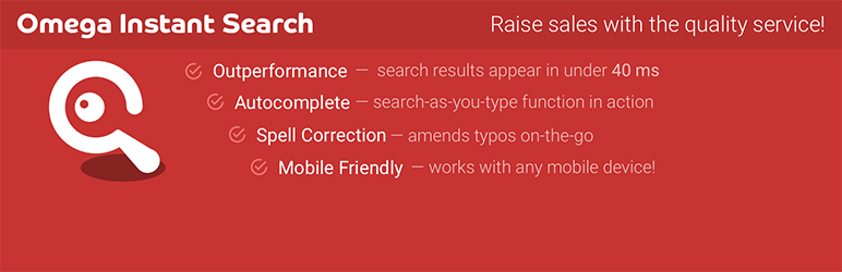 WooCommerce Search by Omega